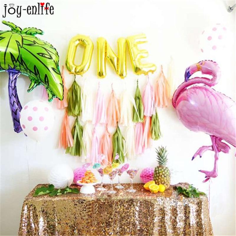 Globos de cumpleaños Flamingo / Piña / Sirena Globos de aluminio - Para fiestas y celebraciones - foto 6