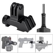 Picatinny Kit de adaptador de pistola para GoPro 8 7 6 5 4, montaje de cámara de acción, accesorios para Gopro, montaje de cámara de Rifle de caza