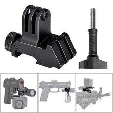 Picatinny pistolet do montażu na szynie Airsoft Gun Adapter zestaw do gopro 8 7 6 5 4 kamera akcji akcesoria gopro karabin myśliwski mocowanie kamery