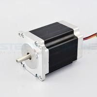 Dual Shaft Nema 23 CNC Stepper Motor Unipolar 76mm 3A 1.9Nm(269oz.in) 6 Leads DIY CNC Router Laser Grind Foam Plasma Cut