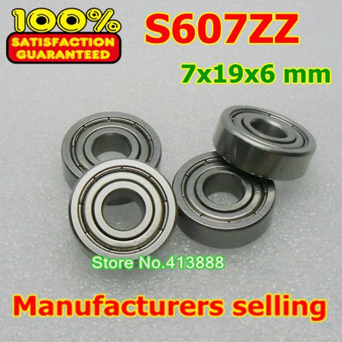 10 шт./лот высокого качества ABEC-1 Z2V1 SUS440C из нержавеющей стали Глубокие шаровые подшипники S607ZZ 7*19*6 мм