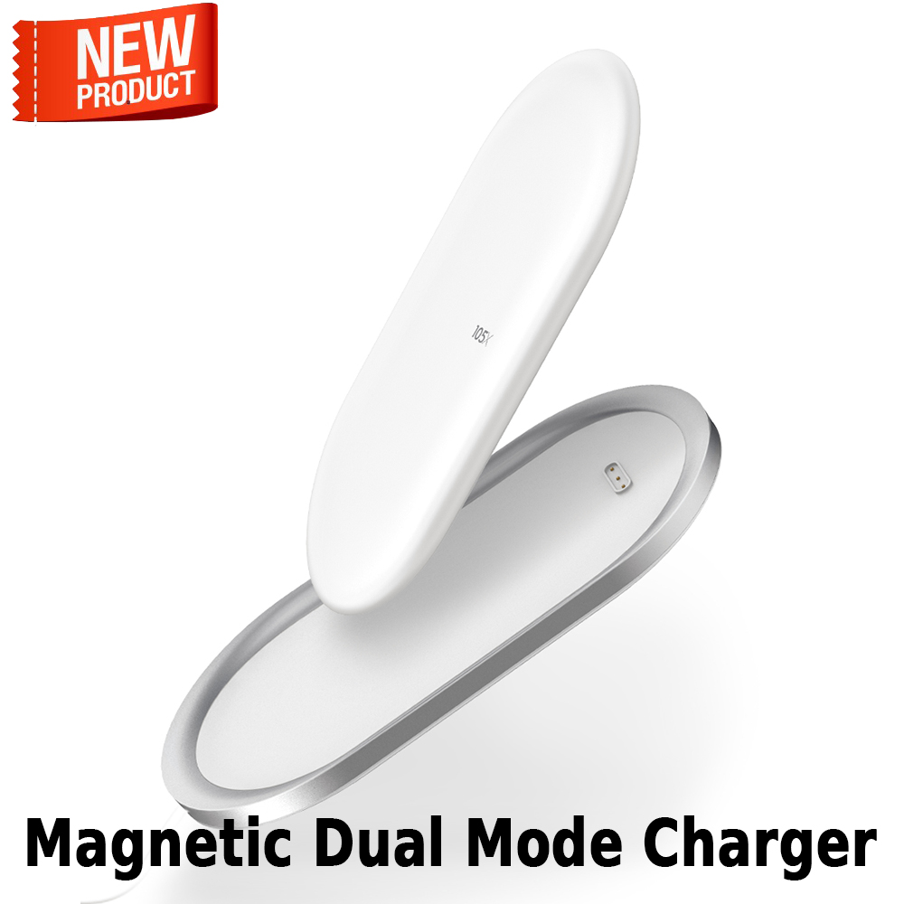 2018 Newest SIKAI Dual mode Wireless Charger Magnetic Wireless Power Bank 5000mAh USB C Output Fast Charging Pad Aluminum Case