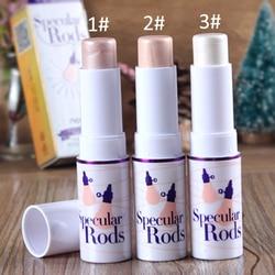 1 pcs 3 Couleurs Bâton Soulignant Poudre Texture Crémeuse Eau-preuve Argent Shimmer Lumière Bronzer et Surligneur Maquillage Pour visage