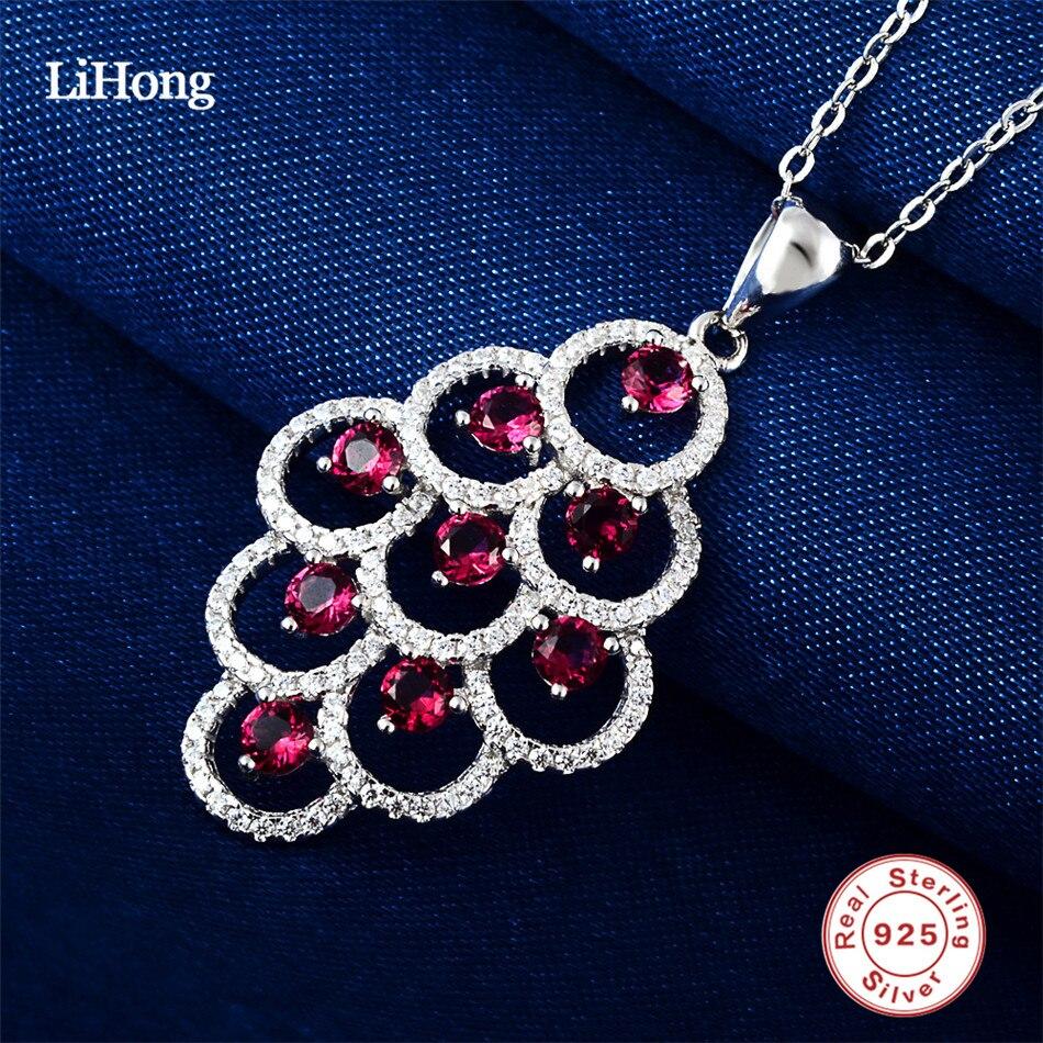 925 ստերլինգ արծաթե կարմիր բյուրեղը - Նուրբ զարդեր - Լուսանկար 3