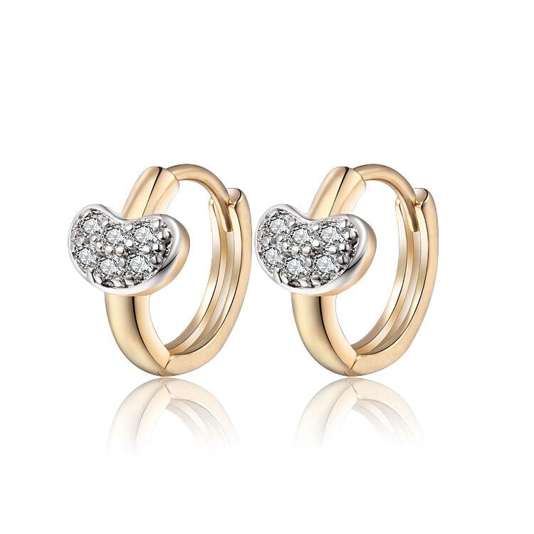 Aliexpress Sale New Children Gold-Color Earrings Zircon Baby CC Hoop Earring Brinco Fashion Jewelry Free shipping 13E18K-87