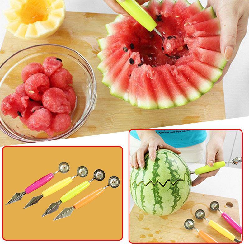 Watermelon Melon Fruit Baller Carving Cutter Ice Cream Scoop DIY Tools Ball