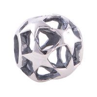 Everbling Jewelry Hollow Stars 100% 925 Sterling Silver Charm Bead Fit European Charms Bracelet G
