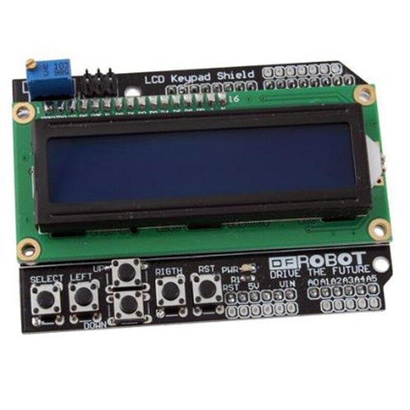 1602 LCD Shield Module Display with Keypad For Arduino UNO R3 MEGA2560 Nano DUE 2pcs/lot Free Shipping