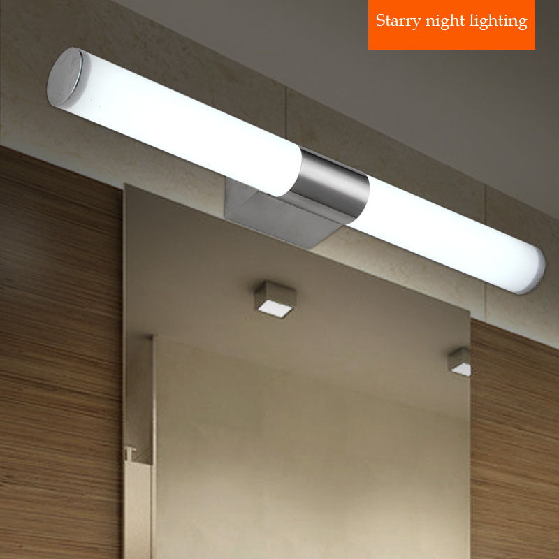 Led Lights For Vanity Contemporary stainless steel lights bathroom led mirror light vanity lighting wall. 2 Bathrooms