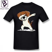 Beagle T Shirt Dabbing Funny T-Shirt Short Sleeves Male Tee Cotton Beach Print Awesome Plus size  Tshirt