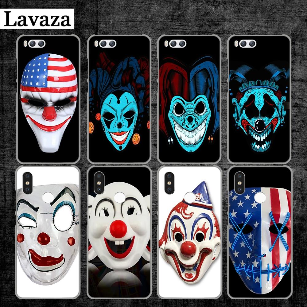 Lavaza clown mask Hard Case for Xiaomi MI 5 5S 6 8 9 SE Lite F1 A1 A2 5X 6X Mix 2S MAX 3