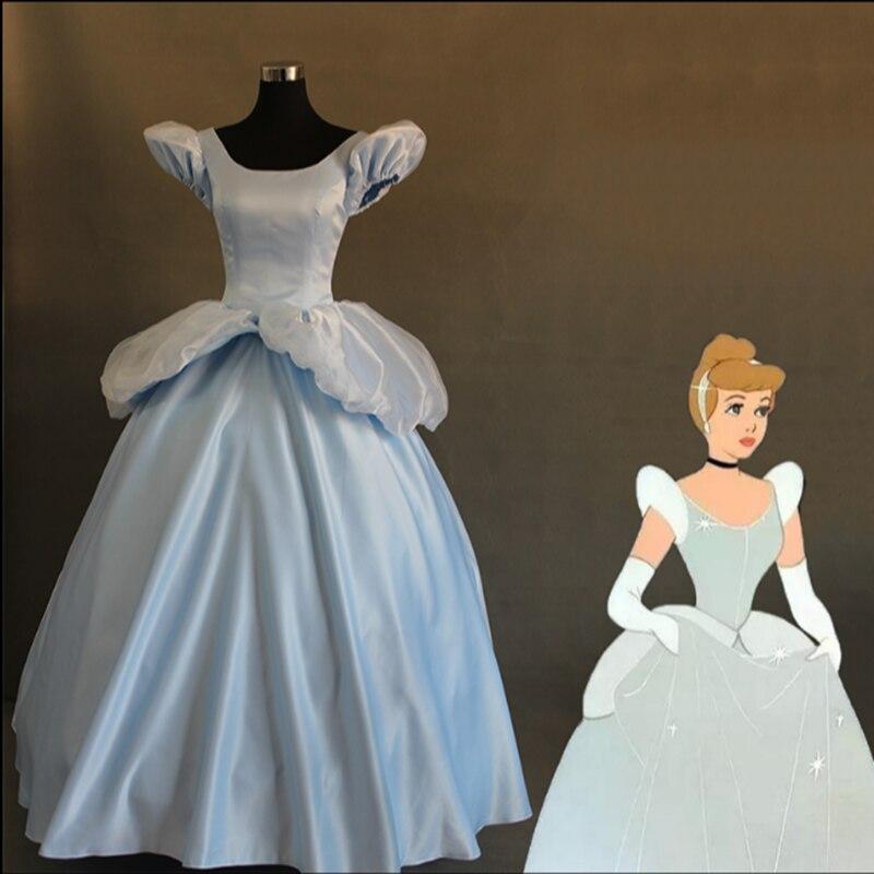 Disney Store Cinderella Light Up Costume Fancy Dress: 1:1 Deluxe Adult Cinderella Dress Light Blue Women