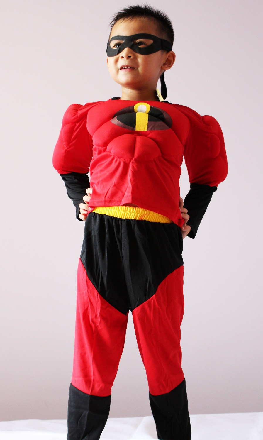3-7 years Party Kids Comic Marvel The incredibles Bob Muscle Halloween Costume,boy roll play clothing 16818#