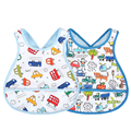 2pcs/lot 16colors Cotton baby bibs waterproof Print Cross Back Buttons baby burp cloths Eating Saliva bandana bibs