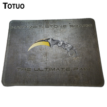 Latest Authentic Design CS GO Gaming Mice Pad Anti-Slip Laptop computer PC Laptop Mousemat Rubber Lock Edge Optical Mousepad