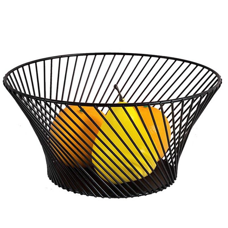 Creative Metal Fruit Bowl Storage Basket Ornaments Twill Storage Basket Desktop Crafts Home Living Room Decor Organizer Gifts