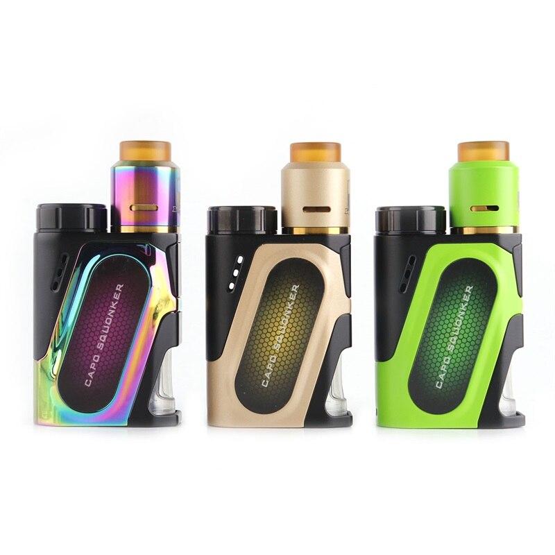Ijoy capo squonk 100 w Cigarette Électronique kit CAPO Squonk TC Boîte Mod 3000 mah flux d'air Latéral 510 Vaporisateur Vaporisateur e-Cigarettes kit