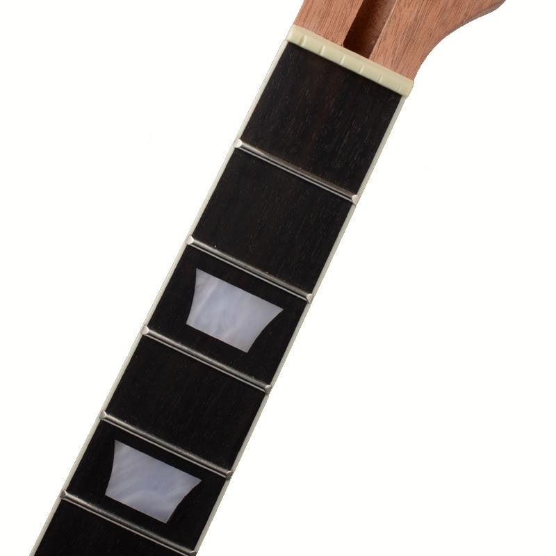 22 secteur de touche de palissandre d'acajou de cou de guitare de Lp de Fret et incrustation de liaison pour le remplacement de cou de guitare électrique de Lp - 5