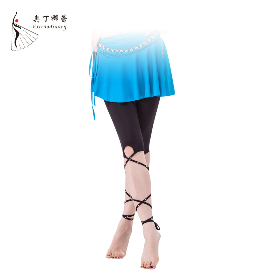 Hot Belly Dance Training Clothes Women Bandage Pants With Rhinestone Black Skinny Dance Leggings Tights K01027