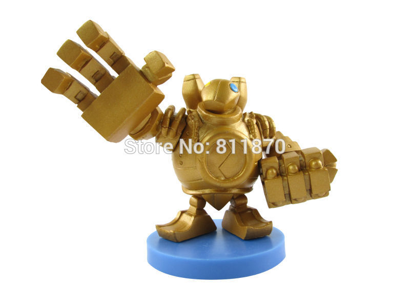 Cosplay 10cm/3.9'' Q Version LOL The Great Steam Golem Blitzcrank PVC Action Figures Toys Model Gk Garage Kits made for lol cosplay the loose cannon jinx 24cm 9 5 middle pvc gk action figures toys garage kits standing model