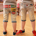 Children's clothing 2016 summer  medium-large male child jeans,The boy in the cowboy pants