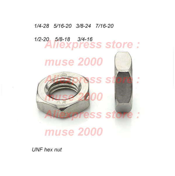 1//2-20 X 5//8 x 1-1//4 Threaded Rod UNF Qty 1 Stainless Steel Coupling Nuts