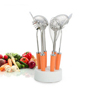 Bearknight High Grade Stainless Steel Kitchenware 7 Piece Kitchen Baking Tools Qi Sets Of Cake Baking