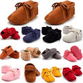 Newborn Baby Girl Boy Moccasin Shoes Soft Sole Tassels Anti Slip Boots Prewalker