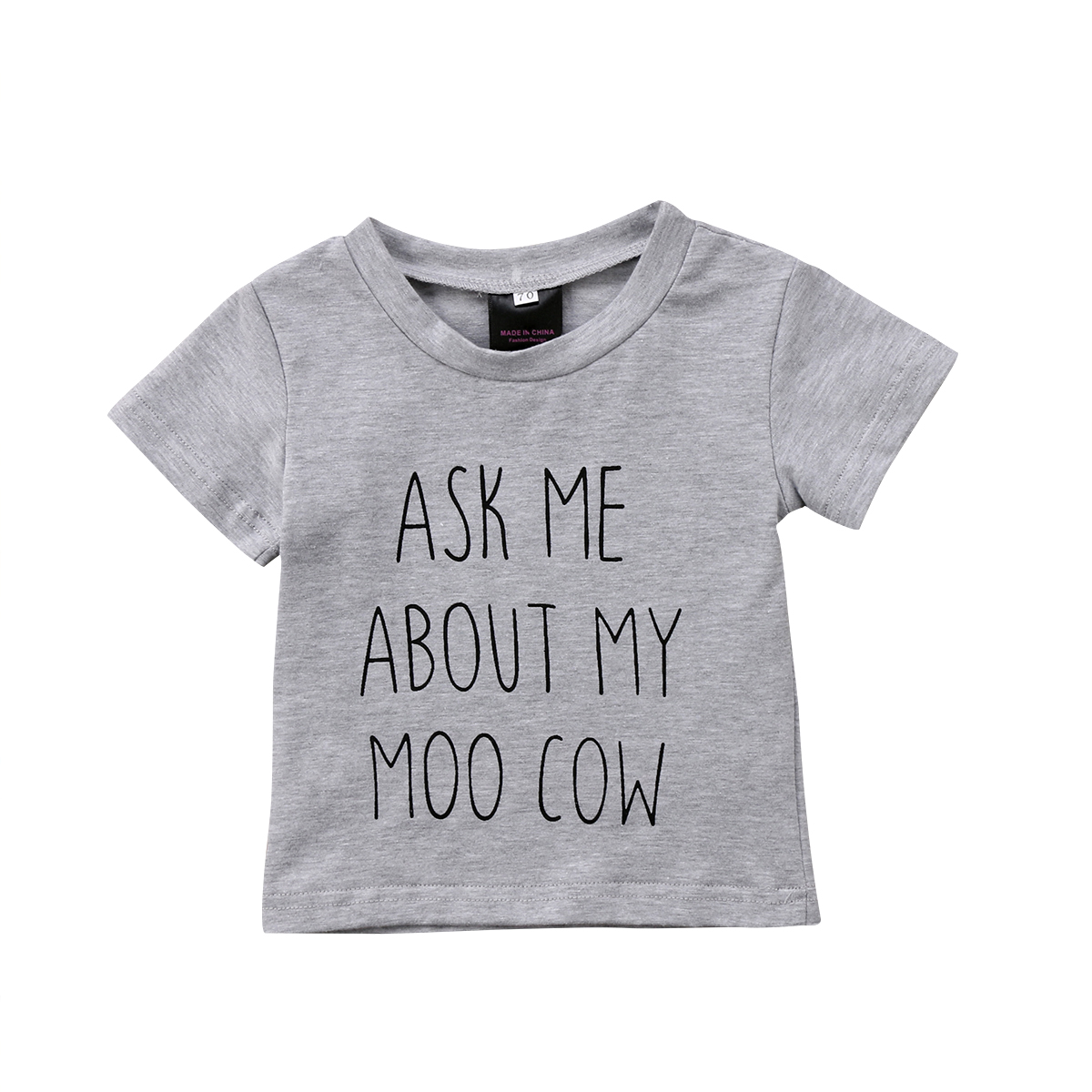 0-4y Newborn Kinder Baby Jungen Mädchen Baumwollbeiläufiges Brief Kurzhülse Oansatz Sommer Shirt In Vielen Stilen