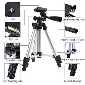 Image 3 - Tripé para câmera e celular, tripé + suporte para iphone 8, 8 plus, ios, android, mini tripé