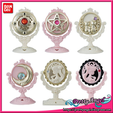 купить PrettyAngel - Genuine Bandai Pretty Guardian Sailor Moon 25th Anniversary Stand Mirror Gashapon Set of 6 PCS дешево