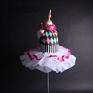 Image 2 - תמיכה ריקוד בנות נשים צבעוני הלטר בלט טוטו שמלת ילדים למבוגרים ריקוד תלבושות Vestidos C112
