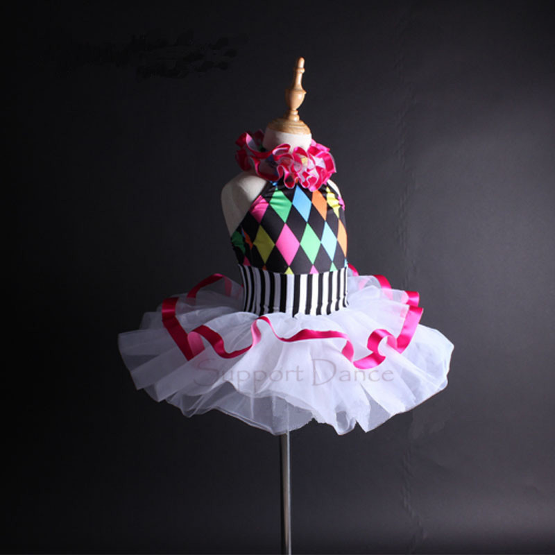Image 2 - Support Dance Girls Women Colorful Halter Ballet Tutu Dress Kids Adult Dance Costume Vestidos C112-in Ballet from Novelty & Special Use