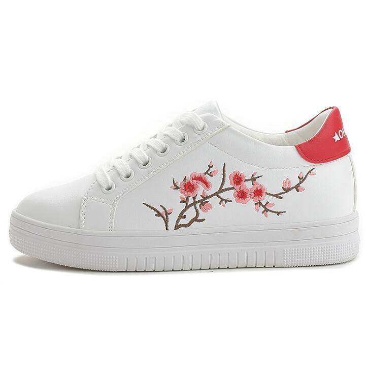 Nouvelles Han White Broderie Black And Édition Plat Automne up Effgt white De Femme Red Femmes 2018 Chaussures Blanc Dentelle Printemps Casual Et Petit B36 11qSWxAv7w