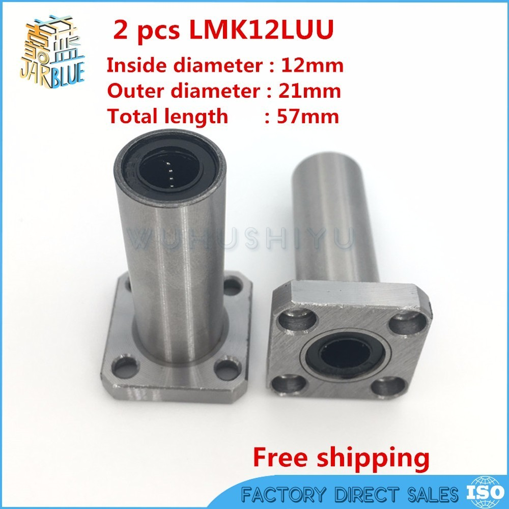 2pcs LM8LUU 8mm Long Linear Ball Bearing Bush Bushing 8x15x45mm 3D Printer