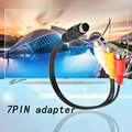 Professional S-Video 7 Pin to 3 RCA Female RGB Component Cable Adapter 27cm for DVD TV/HDTV VCR CD Home Use