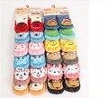 12 Pcs = 6 Pairs adorável bebê meias Anti Cotton deslizamento com animais Unisex chinelo meias recém-nascido 0-24 meses