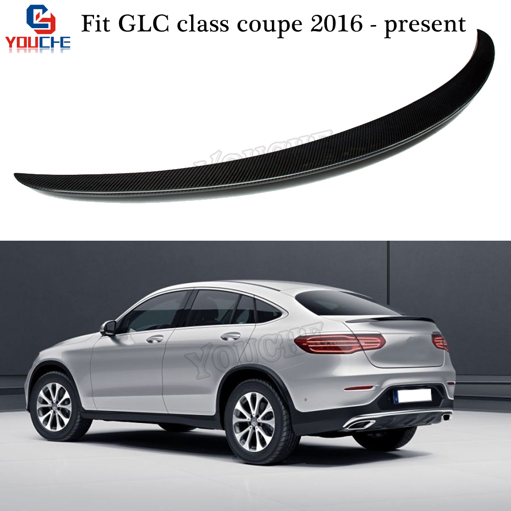 C253 Coupe Carbon Fiber Spoiler Rear Trunk Wing for Mercedes GLC Class Coupe W253 C253 2016