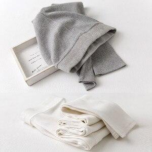 Image 2 - Legging Skinny pour femmes, pantalon gris noir, mignon Kawaii, en coton, extensible, confortable, wk033