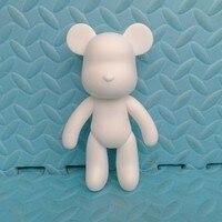 BEARBRICK Gloomy Bear POPOBE 7 Inch White Mold For DIY Graffiti Painted 18cm