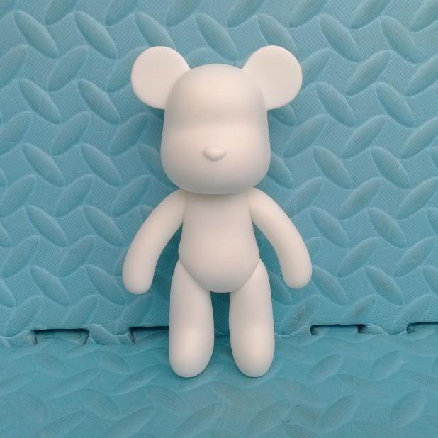 Wholesale Gloomy Bear POPOBE 7 inch or 5 White Mold for DIY Graffiti painted 18cm 14cm