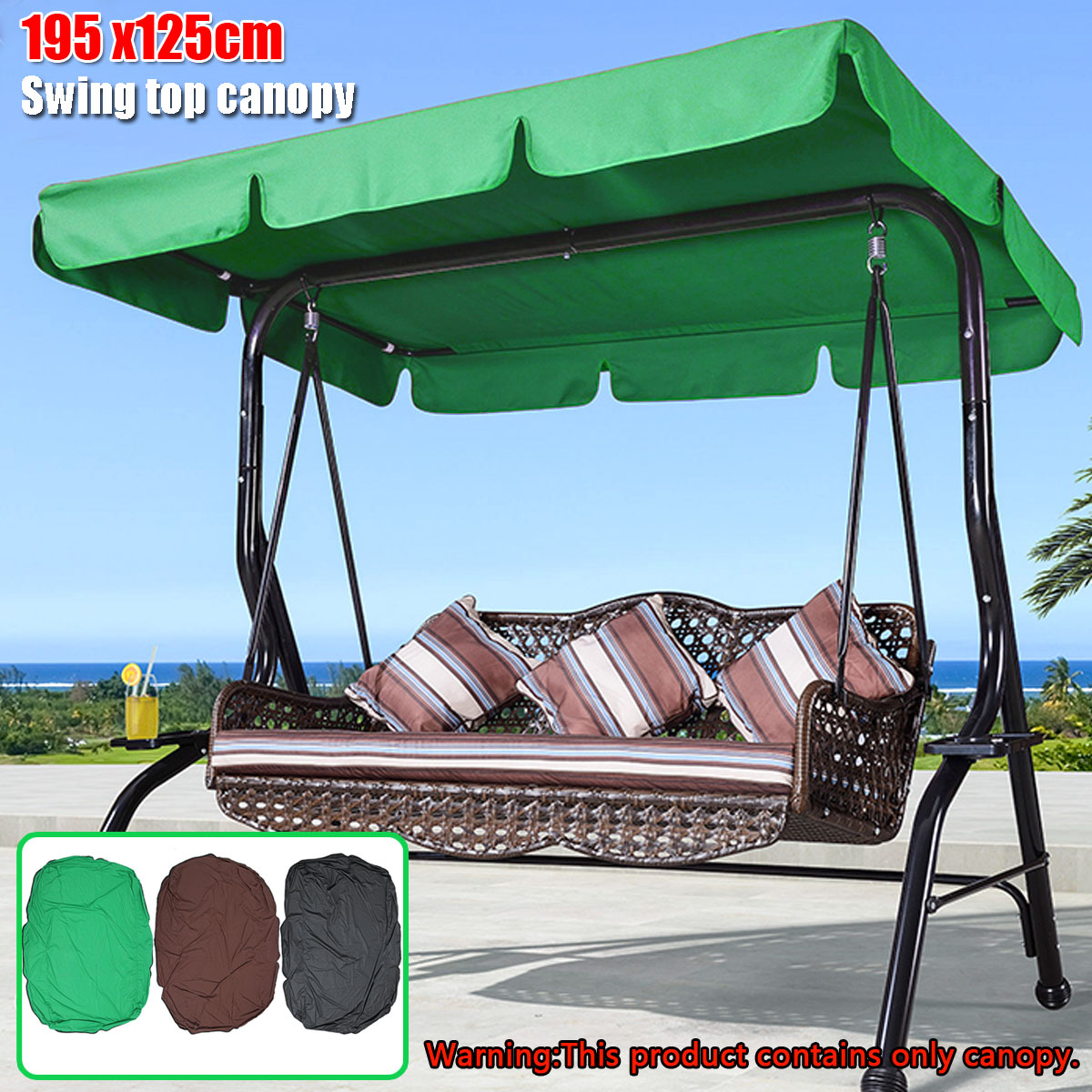 Swing Chair Canopy Replacement Leather Swivel Club Summer Gardening Cover For Ourdoor Courtyard Garden Hammock Awning In Shade Sails Nets From Home