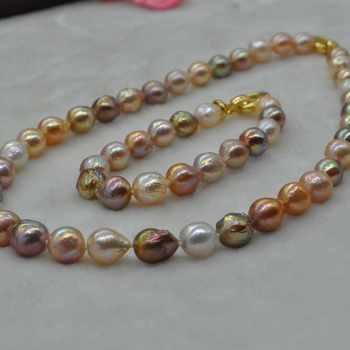 Gorgeous multicolors Kasumi FW pearl set necklace & bracelet 9-11mm - DISCOUNT ITEM  0% OFF All Category