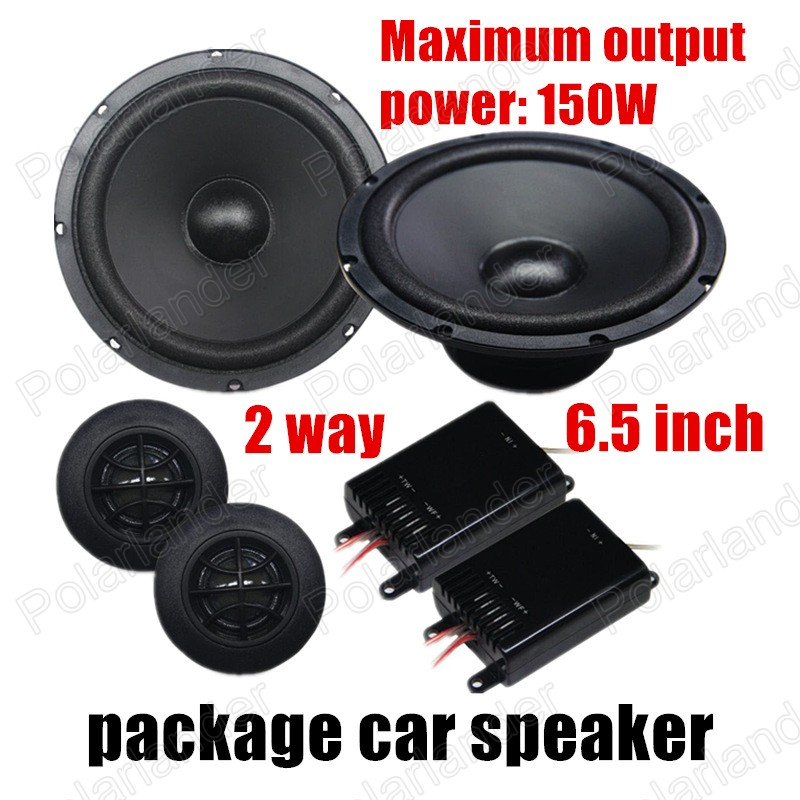 auto door component speakers 2x150W 2 way 6.5 inch 1 pair car package Speaker Car Audio stereo speaker Perfect Music Sound hifine hi 520d 28mm tweeter component speaker for car audio system black pair