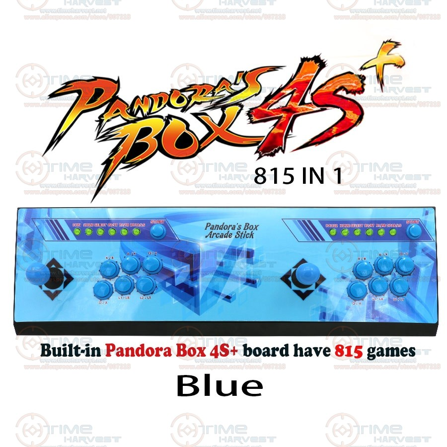 2 plysers Pandora box 4s plus arcade kit joysticks buttons console 815 in 1 family TV game control with USB zero delay function jamma game console kit vertical screen shooting motherboard raiden v simulator shooting arcade game console kit for game machine