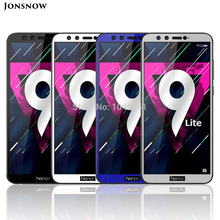 JONSNOW Full Coverage Screen Tempered Glass for Huawei Honor 9 Lite 9H Protective Film for Honor 9 Lite Screen Protector protective glass red line for huawei honor 9 lite full screen black