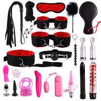 23 pièces/ensemble G spot vibrateurs jeu pour adultes accessoires SM Bondage retenue femmes Sex Toy noylan menottes clito stimulateur adulte Sex Shop