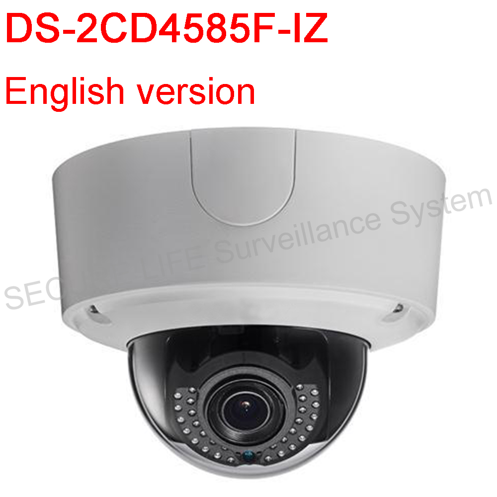 Free shipping English version DS-2CD4585F-IZ 4K Smart Outdoor Dome Camera Support 128G on-board storage Audio PoE IP66