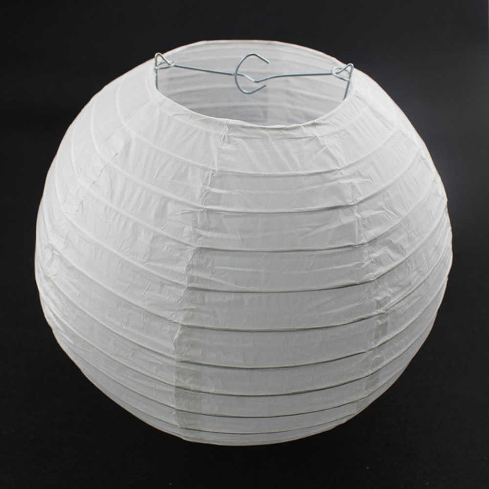 Lanterns Festive & Party Supplies 10pcs 12 Inch 30cm Round White Paper Lantern Lamps For Wedding Party Decorations Paper Ball Lanterns White For Sale