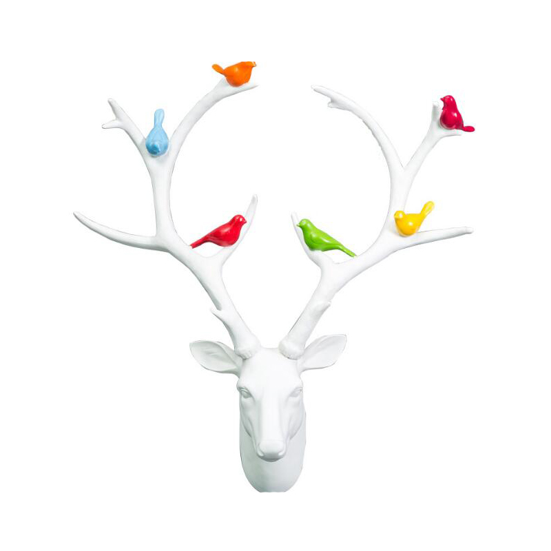 European-style simulation antlers Unicorn wall hangings Winery private cinema creative retro resin animal head ornaments